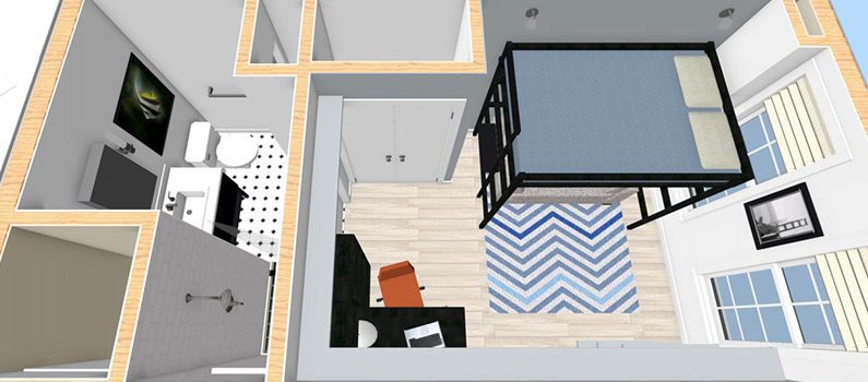 boy's bedroom and bath design